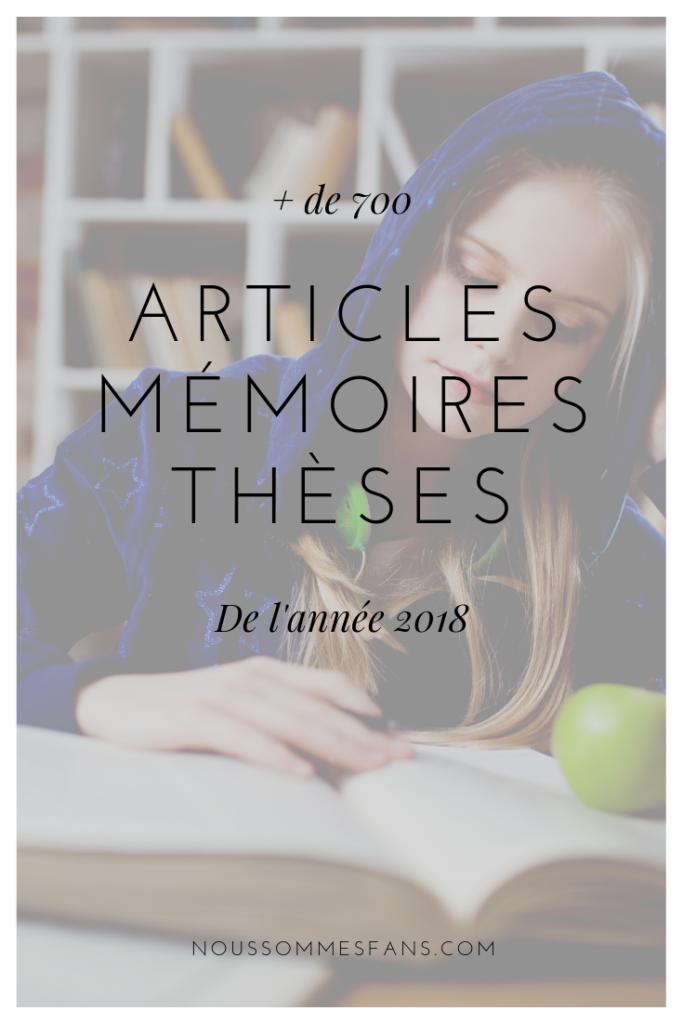 Articles, mémoires et thèses de 2018